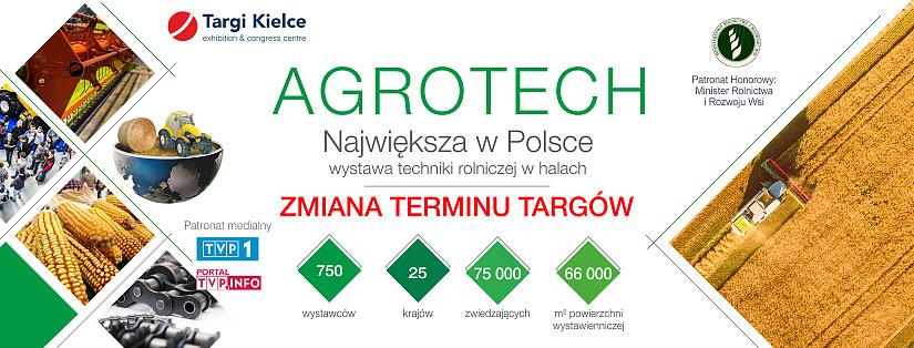 Targi AGROTECH Zmiana Terminu 19-21 CZERWIEC 2020r.