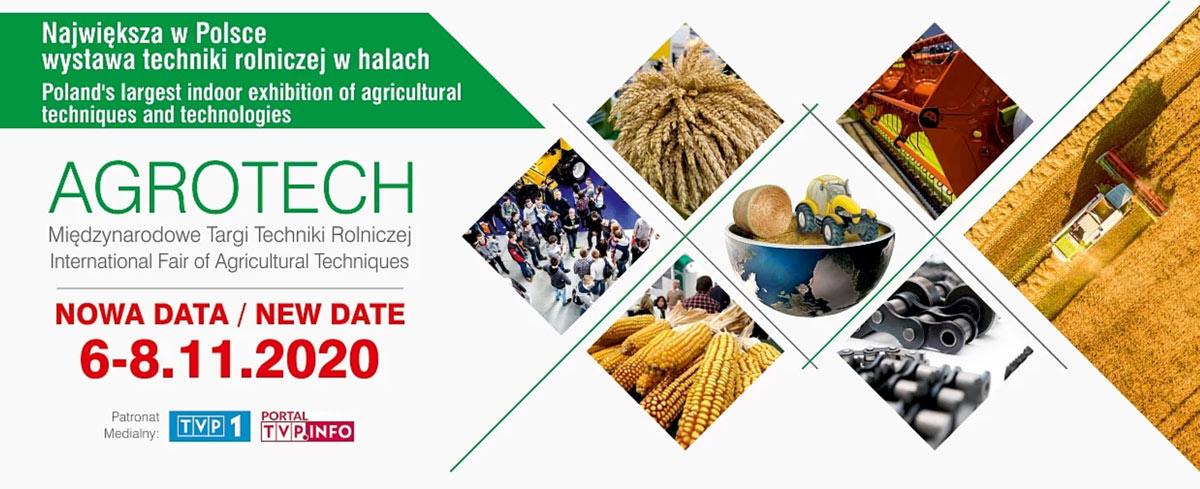 Zmiana Terminu Targów AGROTECH 2020.